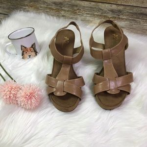 A2 By Aerosoles Wedge Tan Sandals